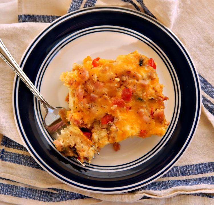 Cheese & Sausage Egg Bake