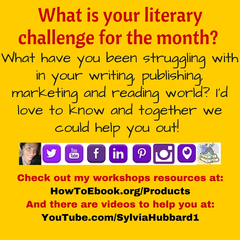What is your literary challenge for the month? #marketing #writing #reading #publishing#April