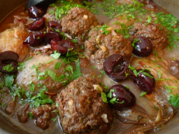 Herbed Meatballs and Stuffed Onions with Cherries Ronit Penso