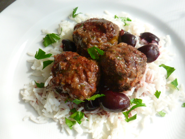 Herbed Meatballs and Stuffed Onions withCherries