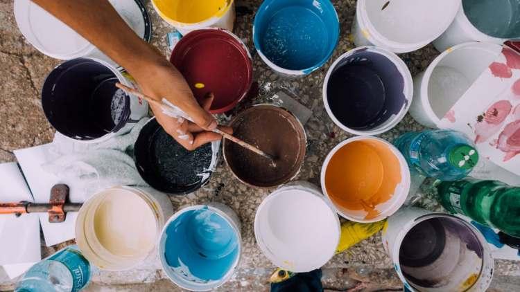 Creativity, Painting, Paint Bowls