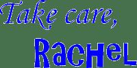 rachel poli sign off