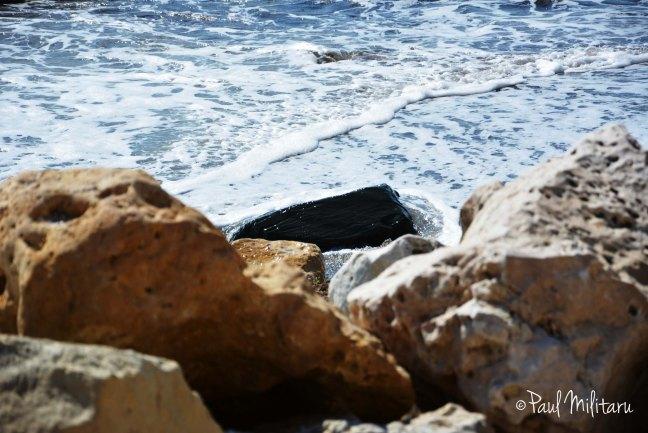 stones and sea foam