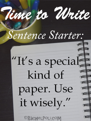 Time to write, writing prompt: first line
