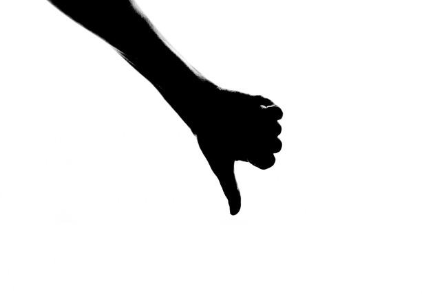 Icon Looser Thumb Down Silhouette Human