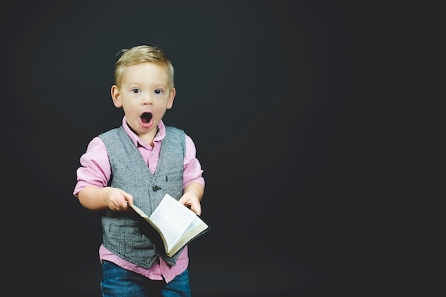 three line tales week 86: a small boy reading a book