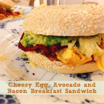 CheesyEggAvocadoBaconBreakfastSandwich