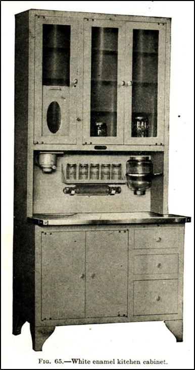 enambled metal kitchen cabinet
