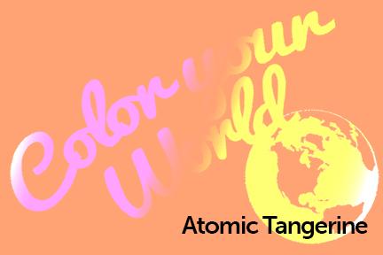 atomic tangerine color your world photo challenge badge